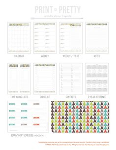 using this planner/agenda to plan the event. Printable Planner Agenda by PRINT PRETTY on Etsy