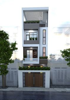 how to choose a Small house plan, which is best choice of small house map and small house map design with small house elevation design 3 Storey House Design, Bungalow House Design, House Front Design, Small House Design, Modern House Design, Narrow House Designs, Home Building Design, Building Exterior, Minimalist House Design
