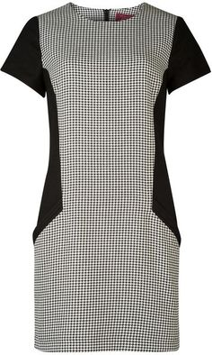 TED BAKER Beckey Dog Tooth Dress - Lyst