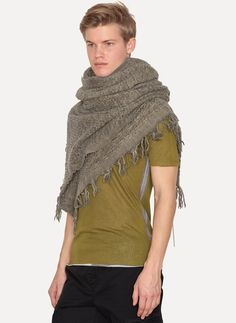 Walnut New Wool Cashmere Scarf - Forme D'Expression