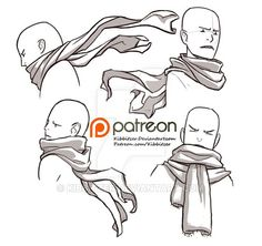 Scarves reference sheet by Kibbitzer.deviantart.com on @DeviantArt