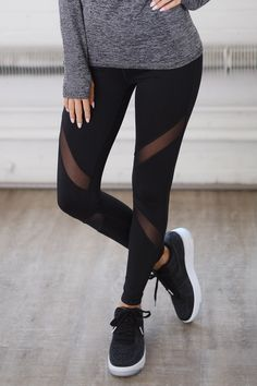 My Best Version Mesh Leggings - Black
