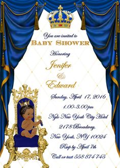 Royal Prince Baby Shower Invitations by STYLEMEMIAMIADESIGN