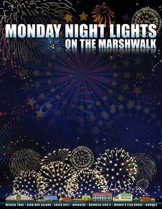 Monday night fireworks in Murrells Inlet - all summer long! South Carolina Coast, Carolina Beach, Myrtle Beach Shopping, Beach House Hotel, Myrtle Beach Attractions, Myrtle Beach Things To Do, Murrells Inlet Sc, Vacation Places, Vacations