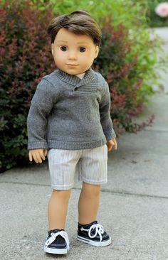 3 Piece Sharp Dresser Grey Shorts and Sweater Outfit, Noodles