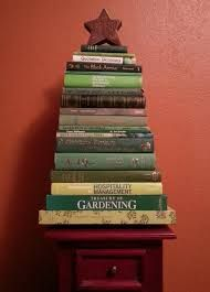 A cute way to stack your books over Christmas time.
