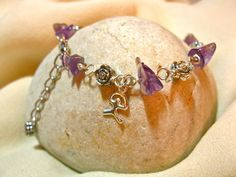Amethyst charm bracelet + Indalo Amethyst Bracelet, Amethyst Jewelry, Good Luck Gifts, Great Gifts, Lucky Stone, Bali Fashion, Jewelry Gifts, Jewellery, Silver Color