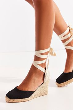 Slide View: 2: Soludos Linen Espadrille Tall Wedge Sandal