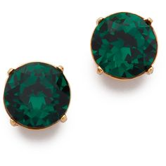 Kenneth Jay Lane Crystal Earrings ($54) ❤ liked on Polyvore featuring jewelry, earrings, emerald, crystal jewelry, kenneth jay lane, stud earrings, stud earring set and crystal jewellery