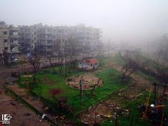 Abandoned playground in Syria.
