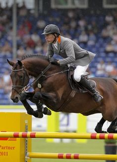 Ludger Beerbaum and Chaman. I'm in love with that horse!