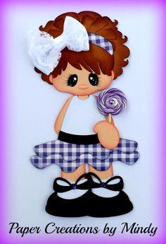 ELITE4U lollipop girl kids summer premade paper piecing scrapbooking page album