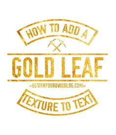 Tutorial: How to add a golf leaf or glitter texture to your blog. Add it to text, shapes, icons or patterns! Super easy!! Check it out on designyourownblog.com!