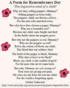 Give a moment to remember all those who fourght or gave there lives for us. it may not be remembrance day but if your reading this stop and give a moment to remember them! Remembrance Day Poems, Remembrance Day Activities, Memorial Day Poem, Poppies Poem, A Moment To Remember, Kids Poems, Anzac Day, Lest We Forget, Don't Forget