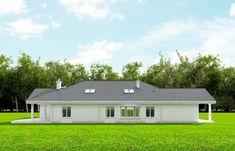 Projekt domu Rezydencja Parkowa - 258,96 m2 - koszt budowy 374 tys. zł Home Fashion, House Plans, Exterior, Bungalows, Mansions, House Styles, Home Decor, Blueprints For Homes, Mansion Houses