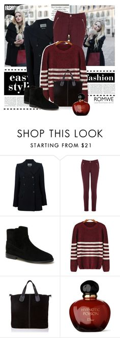"""""""Romwe-Striped Sweater"""" by cherry-bh ❤ liked on Polyvore featuring Étoile Isabel Marant, Oasis, Lacoste, Massimo Castelli, Christian Dior and romwe"""