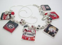UGA Dawgs Custom Collectors Necklace Ga Bull by gamedayjewelryetsy, $75.00
