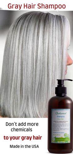 Shampoo For Gray Hair, Hair Shampoo, Blonde Grise, Curly Hair Styles, Natural Hair Styles, Silver Grey Hair, Hair Starting, Hair Health, Great Hair