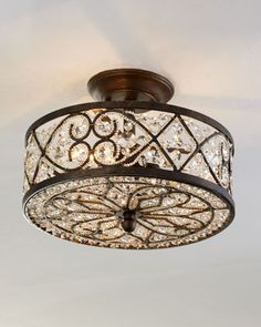 """""""Woven Crystal"""" Ceiling Fixture at Horchow"""
