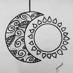 moon sun easy simple drawing drawings indie draw doodles doodle dibujos sketches hipster
