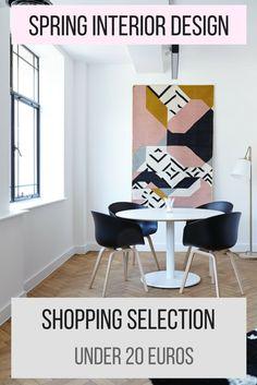 Spring Interior Design Shopping Selection [Under 20 euros]