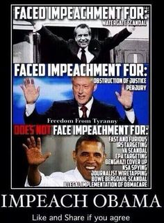 I like this one. Some libtard on here asked me for a list as to why Obama should be impeached; well here ya go! --D. T.
