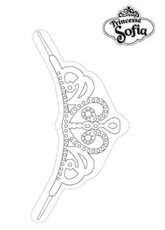 Sofia and oona mermaids coloring pages disney junior for Sofia the first crown template