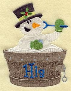 Machine Embroidery Designs at Embroidery Library! - Snowman