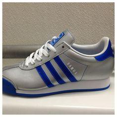 Ladies' royal blue Adidas sneakers