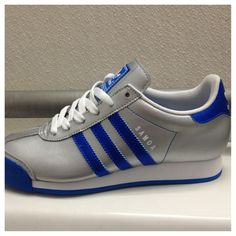 Ladies' royal blue Adidas sneakers