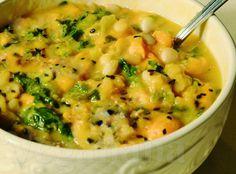 Sopa de Feijão Branco com Abobora e Couve ~ Veganana