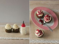 Receta de cupcakes de naranja y coulis de frambuesa Panna Cotta, Ethnic Recipes, Desserts, Blog, Raspberries, Tailgate Desserts, Deserts, Postres, Dessert