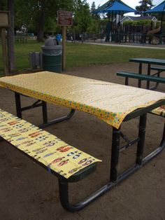 Wonderful Generation Sue: Picnic Bench Seat Cover   A Tutorial | Camping | Pinterest  | Bench Seat Covers, Bench Seat And Seat Covers