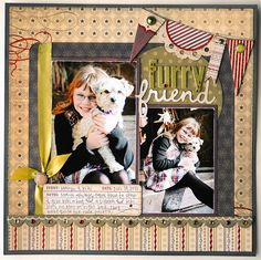 I love Jana Eubank's style of scrapbooking. This page is adorable!