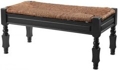 Devonshire Bench with Rush Seat  Home Decorator  $197.00  40x18