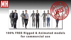 100% FREE Rigged and Animated characters for commercial use