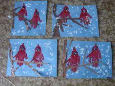 Maro's kindergarten: Winter Birds crafts