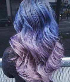 Blue to Lilac Ombre hair... 👌🏻
