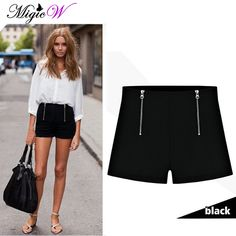 Shorts com fechamento de zíper aparente #shorts #ziper #FocusTextil