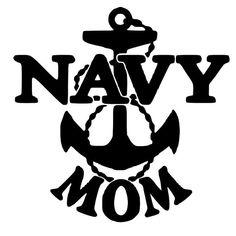 Navy Mom Die-Cut Decal Car Window Wall Bumper Phone Laptop