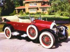Red Thunderbird Sports Car Classic Car With Cream Top