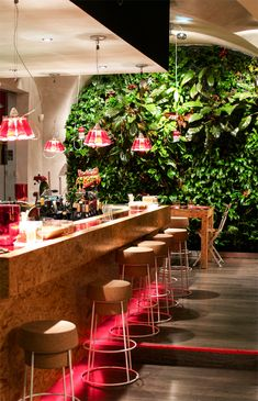 living wall restaurant coffee shop results - ImageSearch Restaurant Design, Restaurant Bar, Game Room Furniture, Patio Bar Set, Wooden Cabinets, Living Room Grey, Cool House Designs, Bars For Home, Coffee Shop