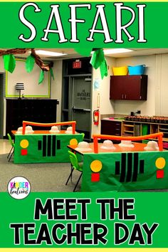 Do you do a Back to School Meet the Teacher Day or Open House? Your students will love following a safari map (a scavenger hunt) and complete hands-on activities to get to know your classroom! Includes printables, decor, and activities to help you create an unforgettable day and to welcome your new explorers!