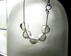 Hand Blown Glass Bubble Sterling Silver by KathysJewelryForYou