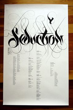 ffffound! marian bantjes: seduction (yale) poster
