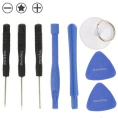 8 in 1 (3 x Screwdriver + 2 x Teardown Rods + 1 x Chuck + 2 x Triangle on Thick Slices) Professional Disassembly Repairing Tool for iPhone 6 / 5 & 5S & 5C / iPhone 4 & 4S