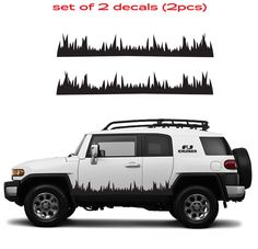 TOYOTA FJ CRUISER Grass Mountain 4 Runner Decal Vinyl Side Door Graphics #8 #Oracal