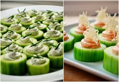 Family Feedbag: Cucumber Canapés with 2 Cream Cheese Fillings