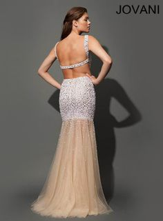 62d4c471b0 Sleeveless exposed and embellished Jovani dress Theia Dresses
