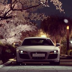 A white Audi R8 just like Christian got for Ana for her birthday! I'm totally obsessed!!! #50ShadesofGrey